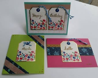 Floral Tag Greeting Card Set