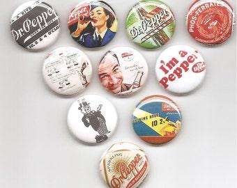 Dr Pepper Fun Set of 10 Pins buttons pinbacks badges