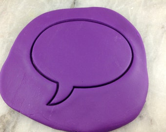 Comic Speech Bubble Cookie Cutter Outline #2 - SHARP EDGES - FAST Shipping - Choose Your Own Size!