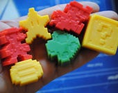 9  Super guest Super Mario Soaps, geek soaps-party favor, Christmas gift