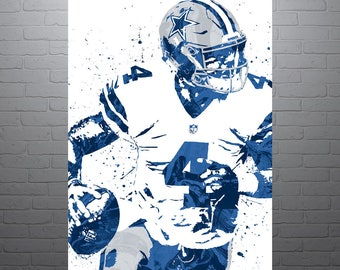 Dak prescott etsy for Dak prescott coloring pages