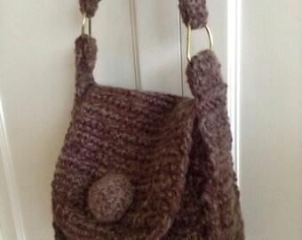 1970s Crocheted Shoulder Bag