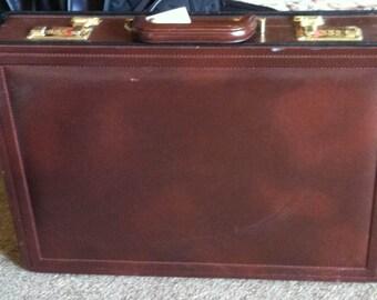 "Leather Brief Case, 20""L X 16""W X 4""D"
