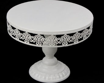White Vintage Metal Cake Stand, Cupcake Dessert Stand Wedding Event Party Display