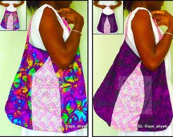 Hobo bags in genuine Indonesian batik, West African batik and African wax print