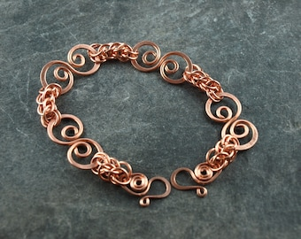 bracelet copper chainmaille
