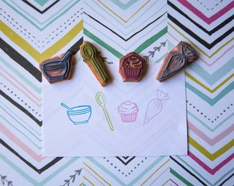 Baking stamps set - 4 piece