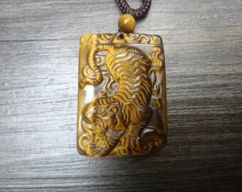 Natural Tiger Eye Tiger Amulet