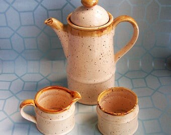 1970s Sadler Coffee Set, Coffee Pot, Milk Jug, Sugar Bowl