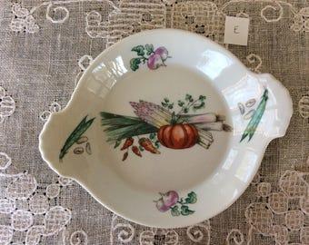 Vintage Apilco French Porcelain Serving Dish / Exclusive Chamart France