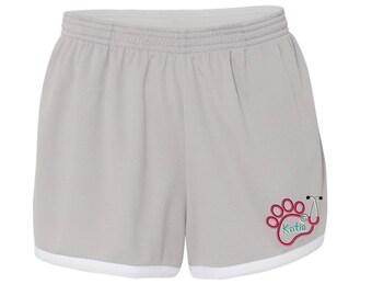 Monogram Paw Stethoscope Womens Shorts. Boxercraft - Women's Fast Break Mesh Short -SS: M66