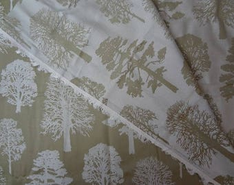 Fabric, Trees, Forest Fabric, Tree Fabric, Reversible, Upholstery Fabric, Fabric by the Yard