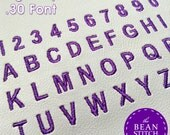 MINI FONTS Embroidery Machine Font Download Design File - Mini Font Set of 3 for SnapBean Bag Tag Designs