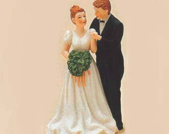 Irish Couple Wedding Cake Topper Figurine