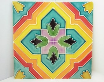 Traditional tile, crazy colors - 3