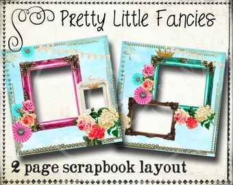 Digital Scrapbook Quick Page Digital Template Layout Digital Banner Digital Scrapbook Page Digital Scrapbook Template 12 x 12 Paper
