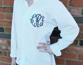 Bridal Party and Bridesmaids  Monogrammed Oxford shirts