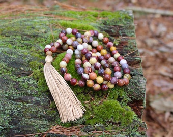 Adventure, Protection, Life Decisions, Health & Healing Mala Necklace - Mookaite