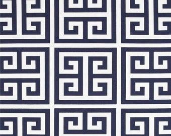 Navy blue Valance 50 x 14 50 x 16 Greek Keys Navy Blue White Curtain Navy Blue Valance Window Valance Kitchen Valance, custom valance