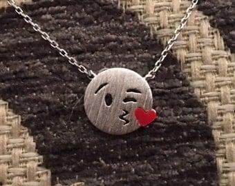 Emoji Kiss Necklace