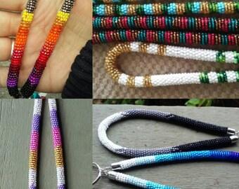 Pre order Beaded rope keychain