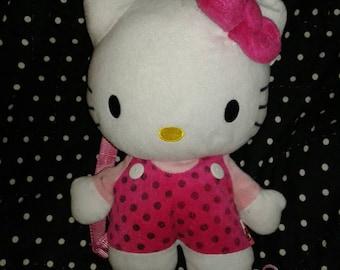Hello Kitty plush backpack