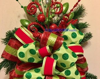 Christmas tree bows   Etsy