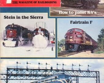 TRAINS MARCH 1984 The Magazine of Railroading, Train Railroad Railroads Magazine!
