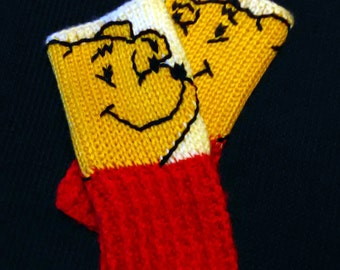 Winnie the Pooh Fingerless Gloves Wrist Warmers