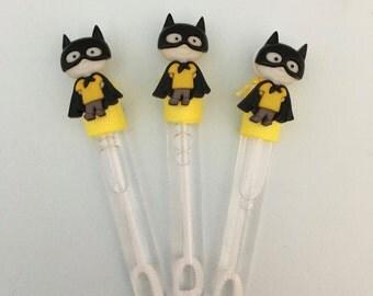 Batman Favor, Batman Bubble Favor, Batman Party Favors, Superhero Theme Party Supplies