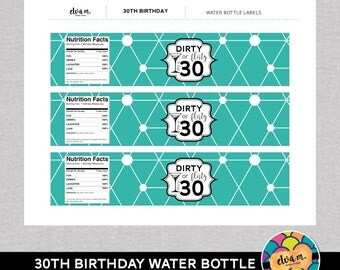 30th birthday wine bottle labels 30th birthday dirty or for 30th birthday decoration packages
