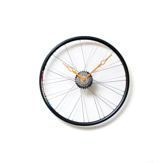 Unique Wall Clock, Bicycle Wheel Clock, Large Wall Clock, Oversized Wall Clock, Unique Gift, Husband Gift, Bike Wheel Clock, Bicycle Clock