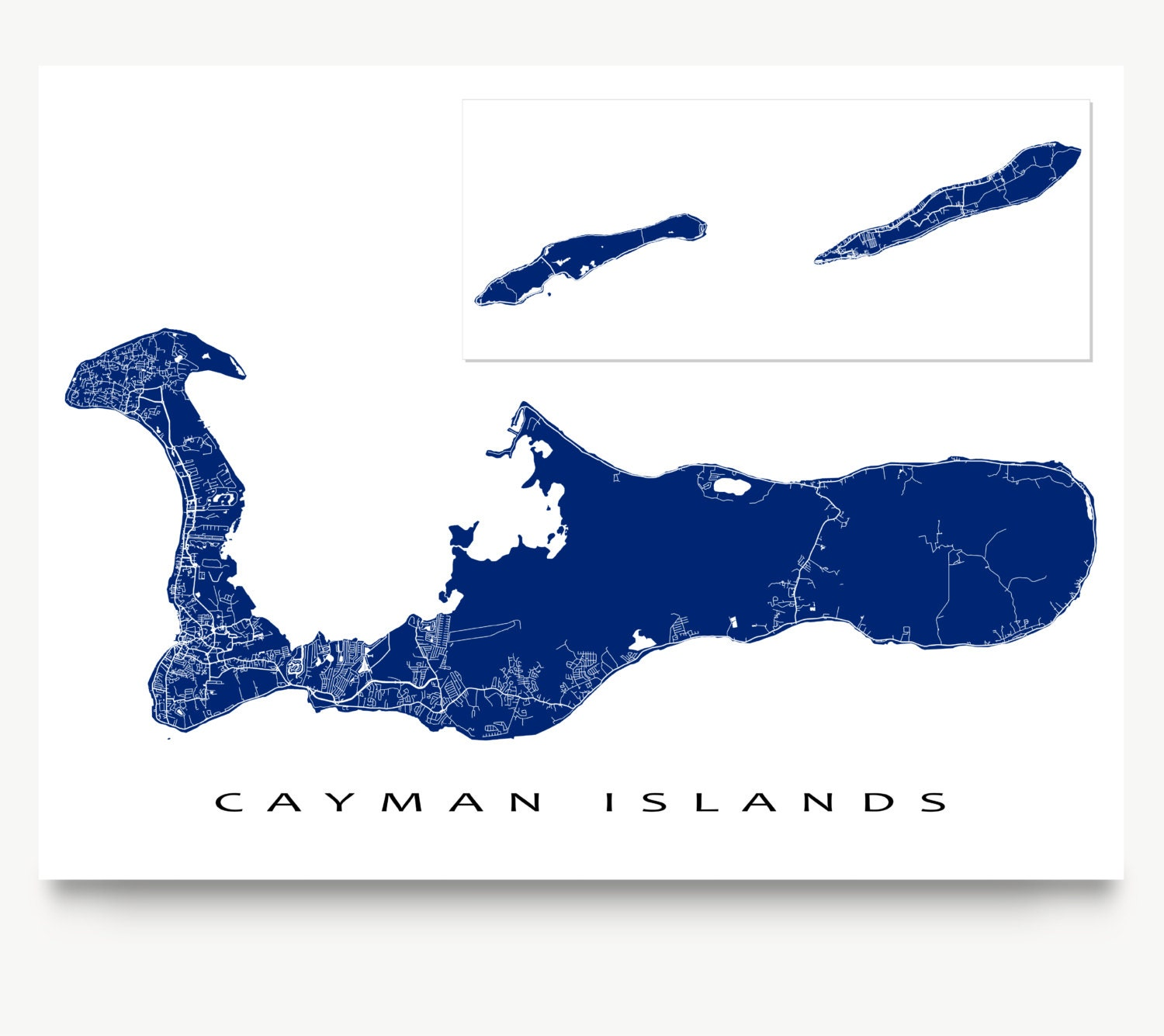 It's just an image of Comprehensive Printable Map of Grand Cayman