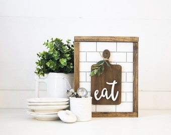 Eat + Bread Board | DIY Pocket Frame Insert Kit | SIZE B | Frame Not Included