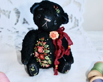 Artist Teddy Bear with embroidery