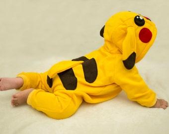 Pokemon Pikachu Costume Onesie size 6M - 12M Cosplay