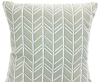 Taupe White Chevron Throw Pillow Covers Cushions Chevron Taupe Tan White Bogatell Couch Pillow Decorative Throw Pillow One or More All Sizes