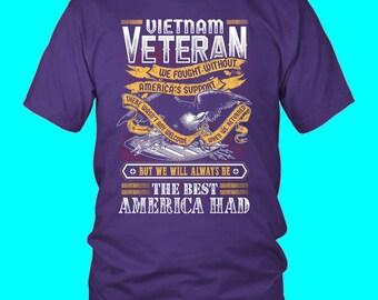 Vietnam Veteran, Veteran TShirt, Veteran Tee Shirt, Veteran Shirt, Gift For Veteran, Veteran's Day Gift, Veteran T-Shirt, Black TShirt
