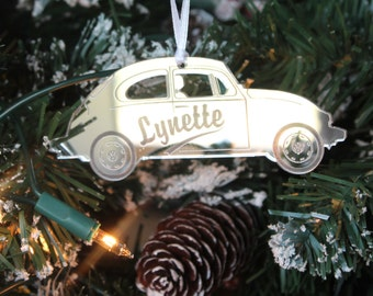 Personalised Classic VW VOLKSWAGEN BEETLE Christmas Tree Decoration & Gift Bag