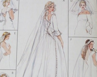 Bridal Veil Pattern - 6 Different Veils - Bridal Accessories Pattern - McCalls 4126