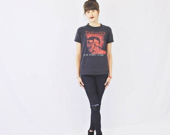 """The Exploited Vintage Tee! Exploited """"Let's Start a War"""" Soft and Perfectly Worn in Band Tee Women's Size S/M"""