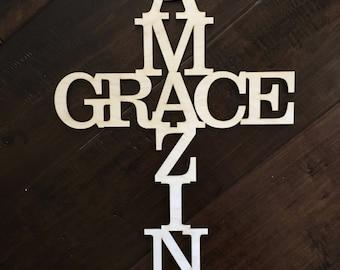 Amazing Grace Cross, Wooden Cross