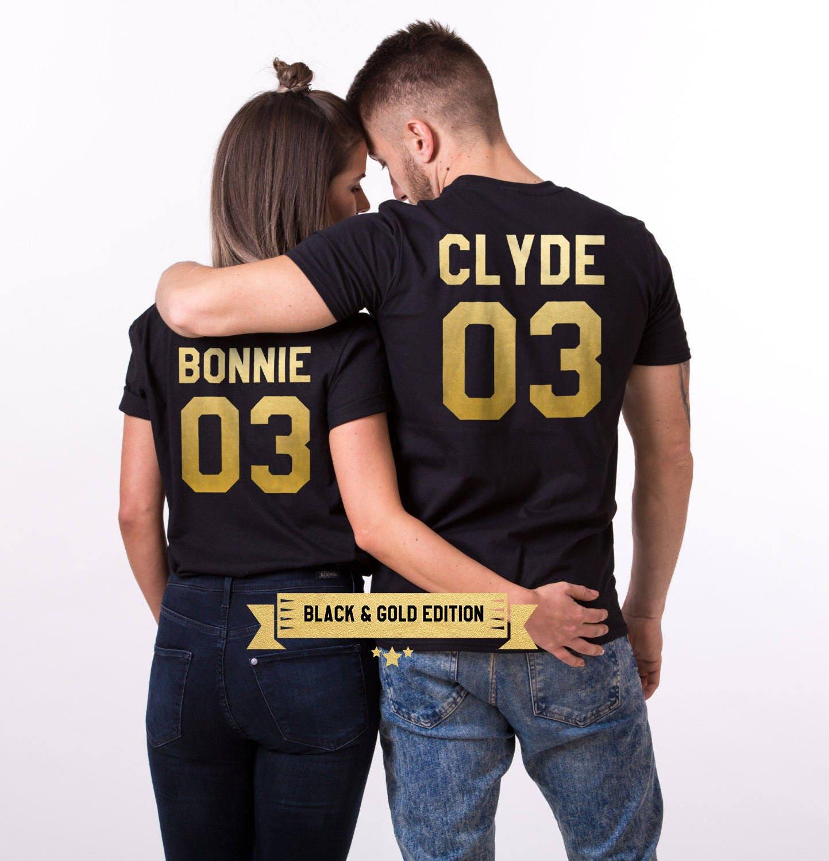 bonnie clyde 03 set of 2 couple t shirts bonnie clyde 03 set. Black Bedroom Furniture Sets. Home Design Ideas