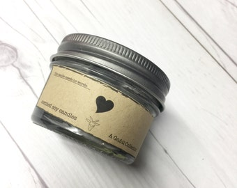 Black Heart Soy Candle