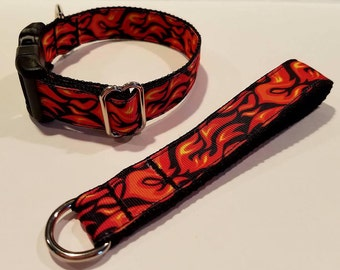 Flames & fire  dog collars