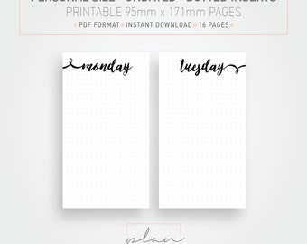 Printable Planner pages Undated planner Dotted Personal Planner Bullet journal Minimal planner pages Instant download