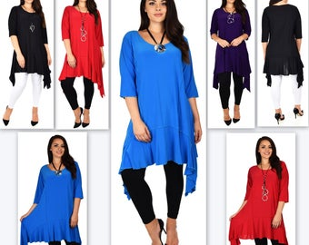 Stylish N Exclusive Crazy cuts Tunic,  Lagenlook Tunic dress, Plus Size Tunic, Quirky Tunic Dress. Plus size clothing