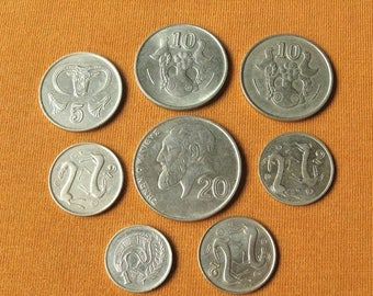 Cyprus Coins, Coins from Europe for Jewelry Making