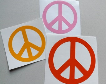 Peace Sign Decal, yeti cup decal,phone decal,laptop decal,car decal,window decal, vinyl stickers