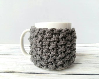 Coffee Cozy - Coffee Mug Cozy - Hygge Gift for Her - Cozy Knit - Mug Warmer - Knit Cozy - Mug Cover - Chunky Knit - Coffee Cup Warmer
